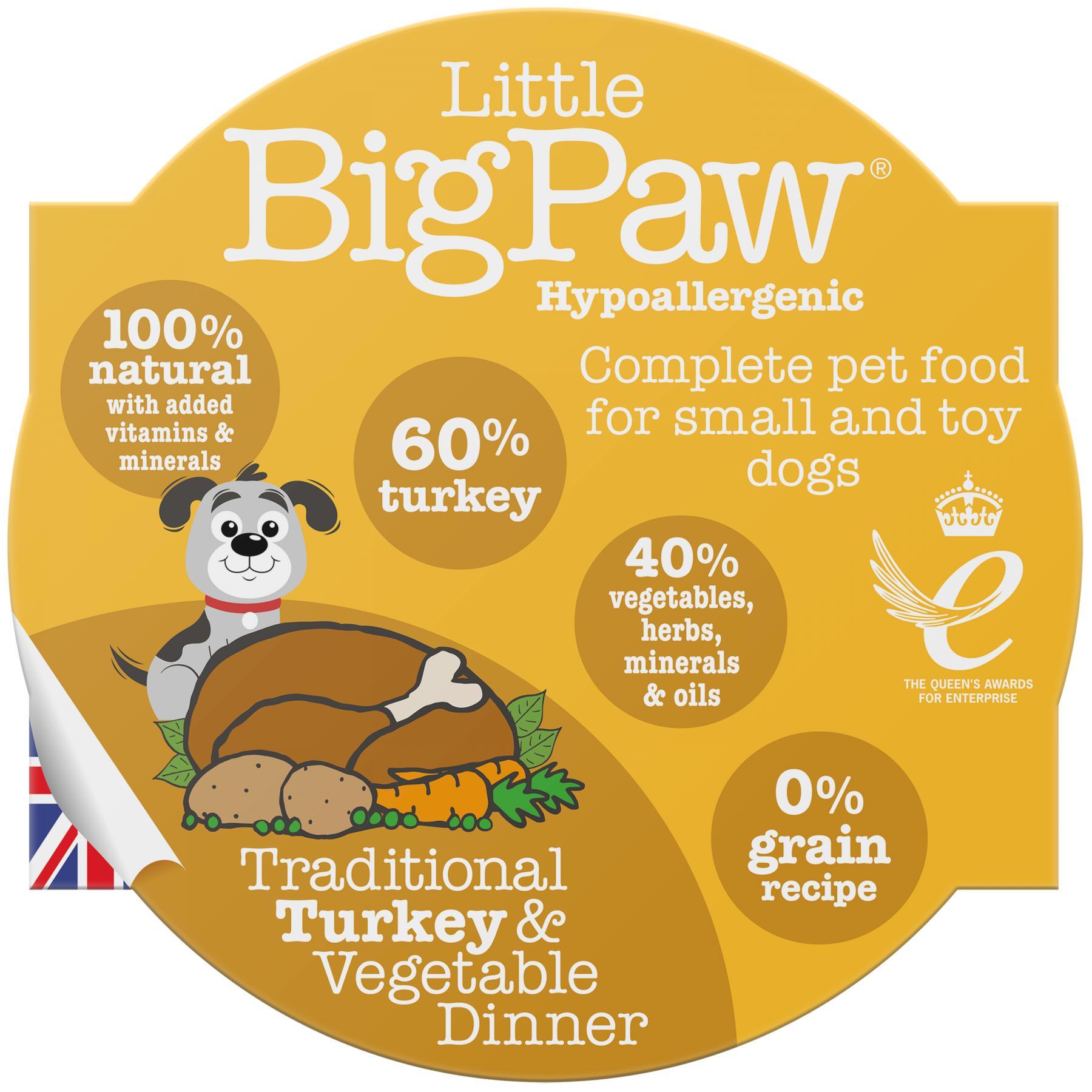 Little BigPaw Traditional Turkey & Vegetable Dinner Wet Dog Food, 85-gram