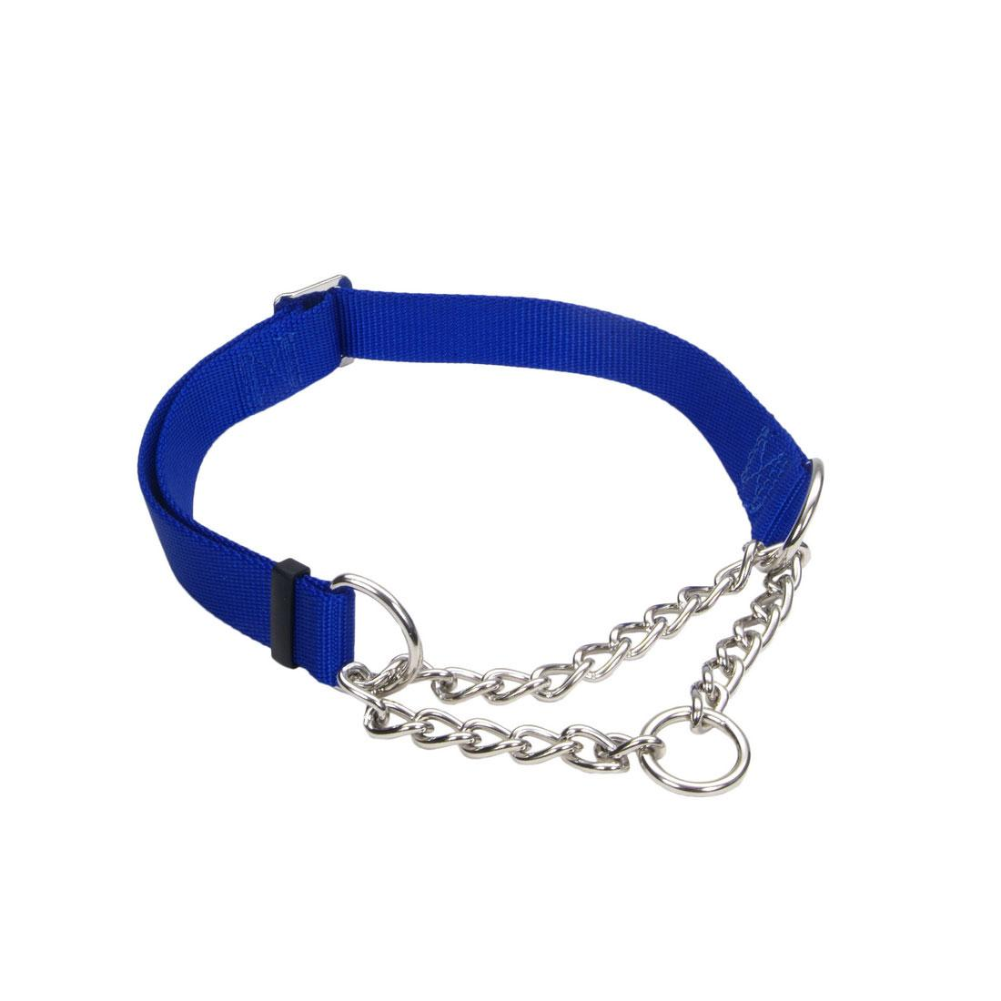 Coastal Adjustable Check Training Collar for Dogs, Blue, 5/8-in x 10-14-in