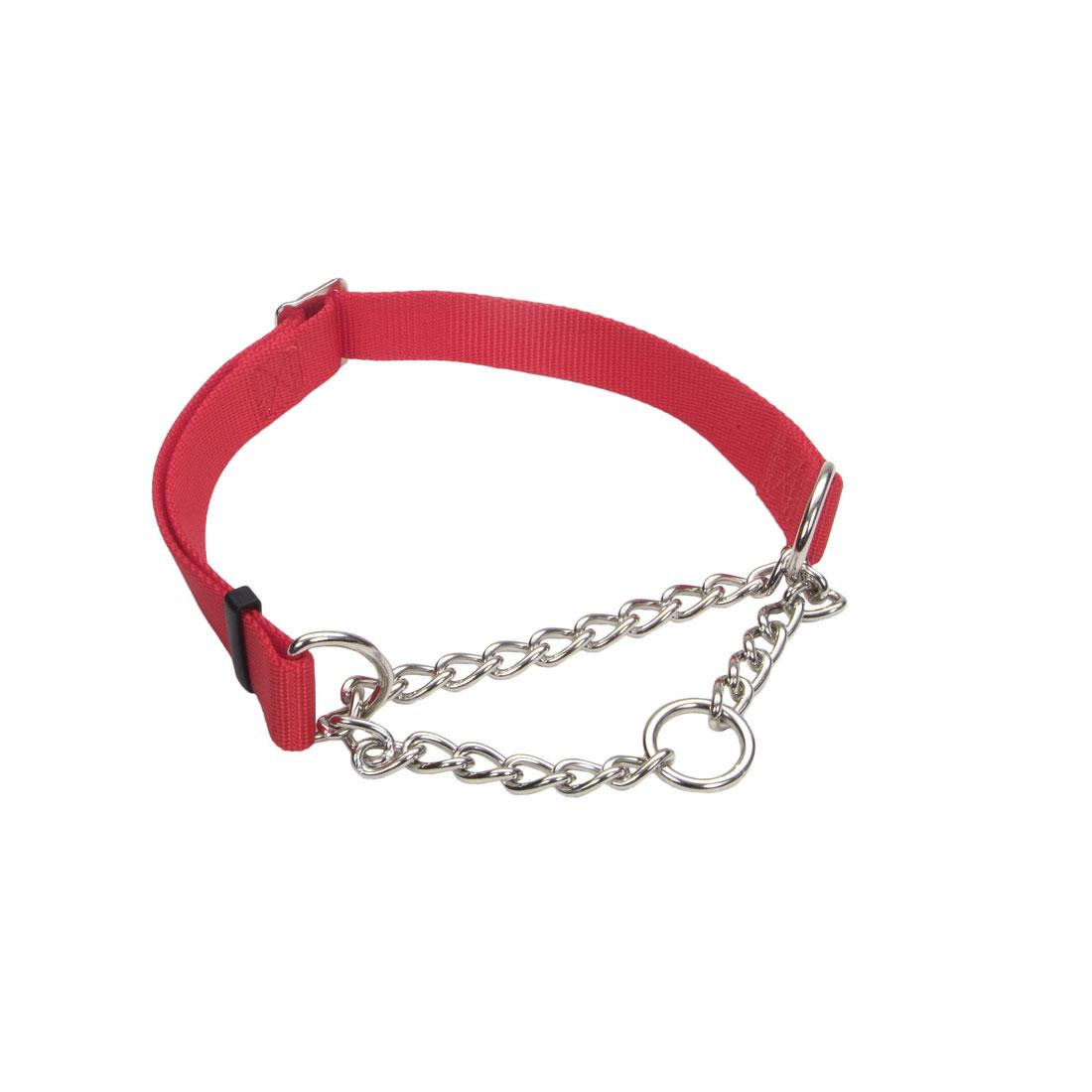 Coastal Adjustable Check Training Collar for Dogs, Red, 5/8-in x 10-14-in
