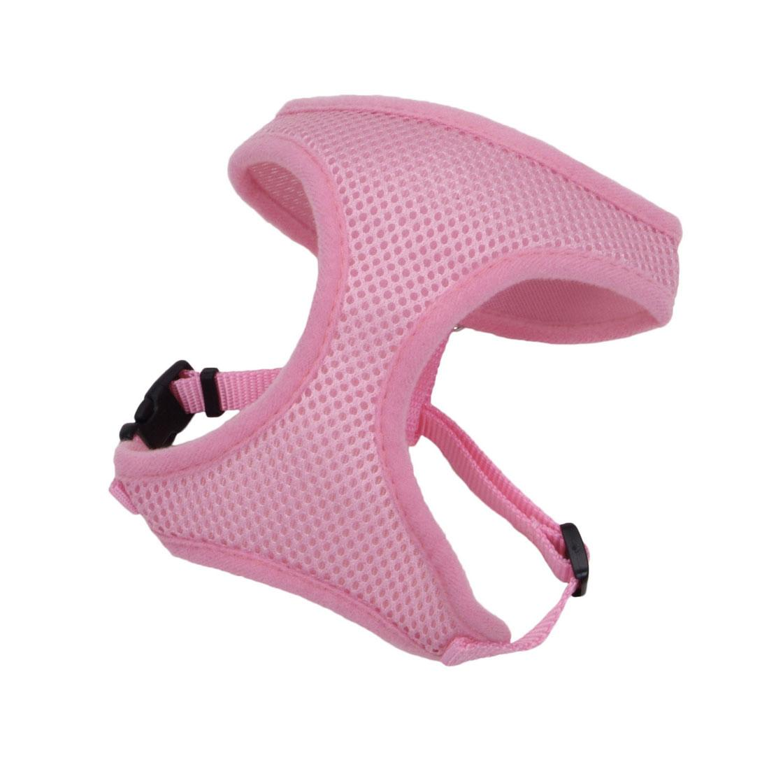 Coastal Comfort Soft Adjustable Dog Harness, Pink Bright, 5/8-in x 16-19-in
