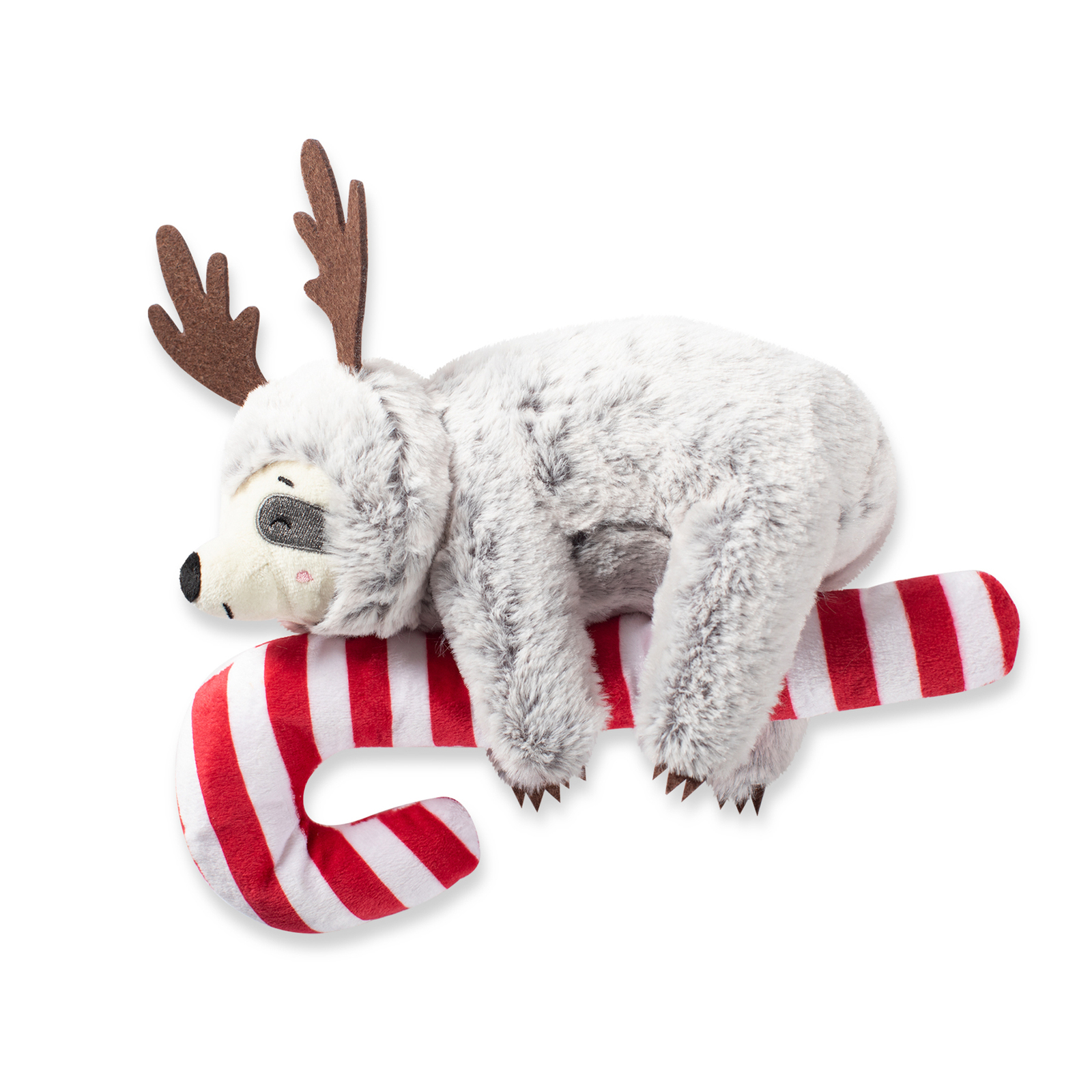 Fringe Studio Sloth Hanging On a Candy Cane Dog Toy