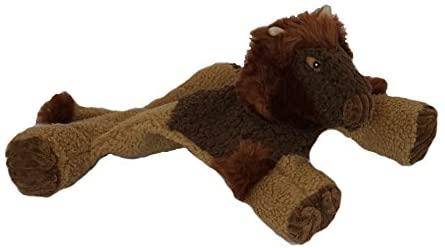 Huggle Hounds Buffalo Flattie Dog Toy, Small