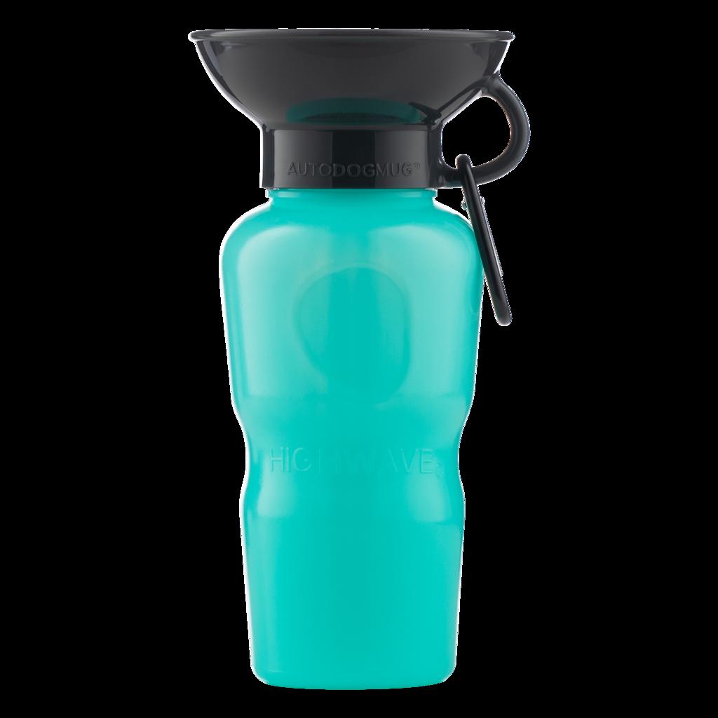Highwave AutoDOGMug Leak-Tight Portable Dog Water Bottle & Bowl, Sea Foam