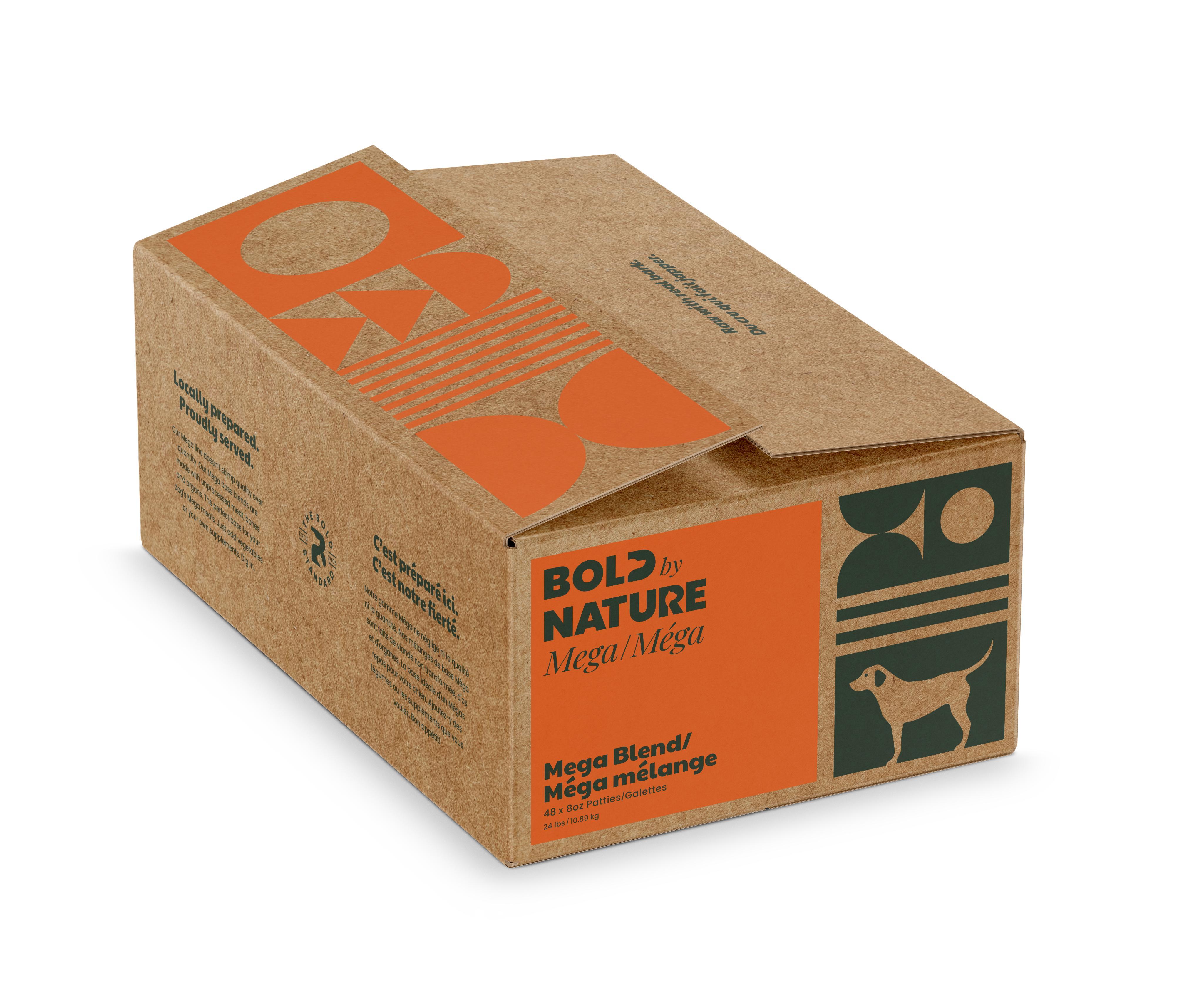 Bold by Nature Dog Mega Blend Patties Dog Food, 24-lb