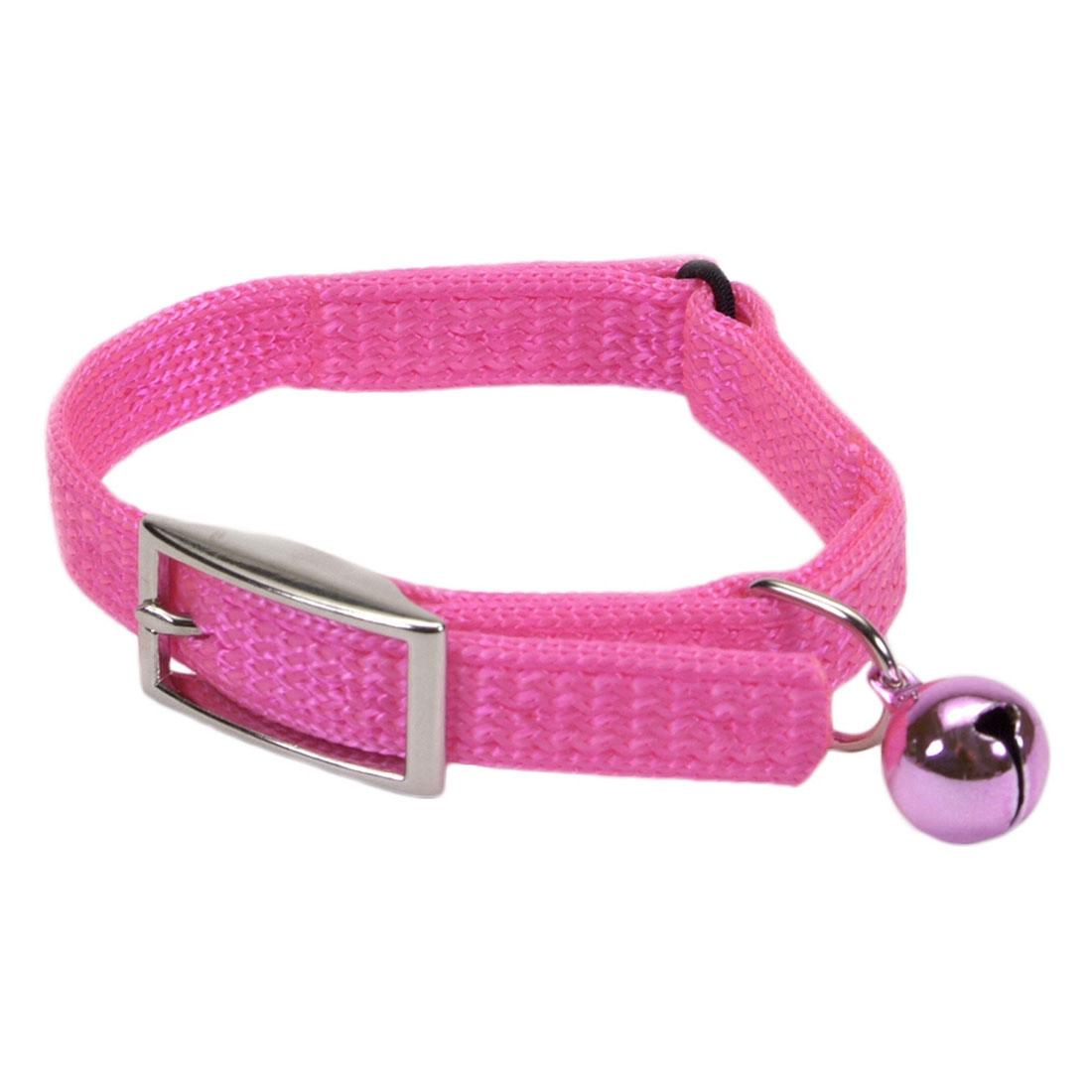Safe Cat Snag-Proof Safety Cat Collar, Neon Pink, 3/8-in x 10-in