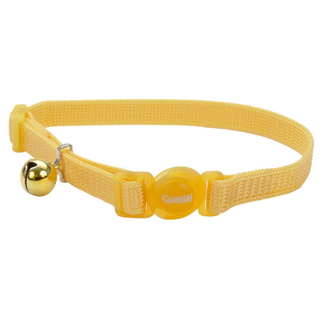 Safe Cat Adjustable Snag-Proof Breakaway Cat Collar, Banana Boat, 3/8-in x 8-12-in