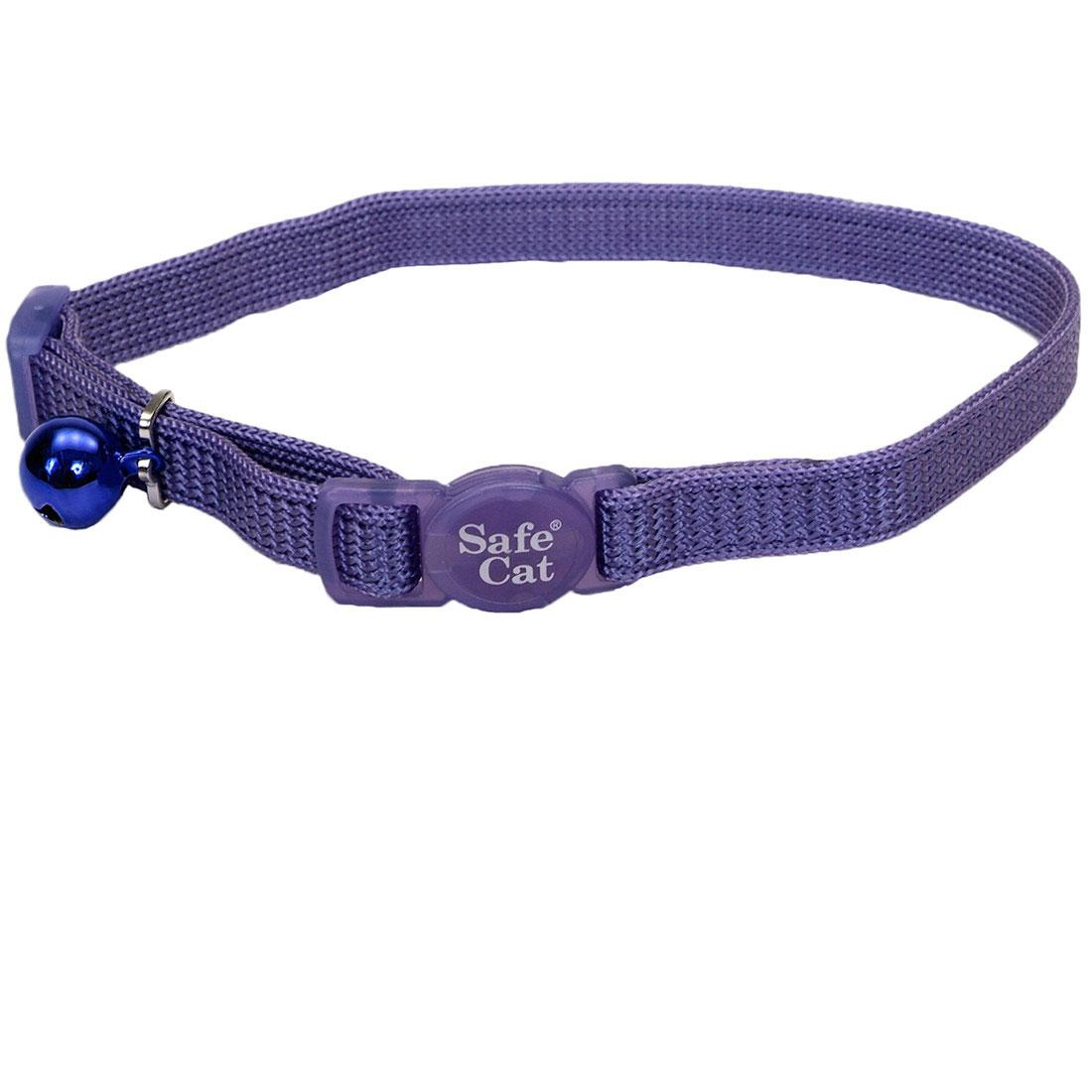Safe Cat Adjustable Snag-Proof Breakaway Cat Collar, Paradise Purple, 3/8-in x 8-12-in