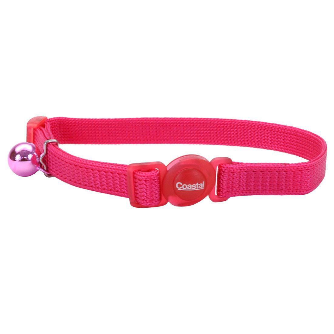 Safe Cat Adjustable Snag-Proof Breakaway Cat Collar, Pink Flamingo, 3/8-in x 8-12-in (Size: 3/8-in x 8-12-in) Image