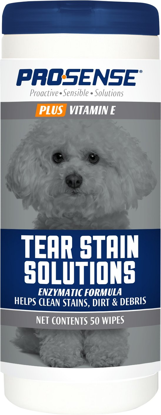 Pro-Sense Plus Tear Stain Solutions Dog Wipes, 50 count