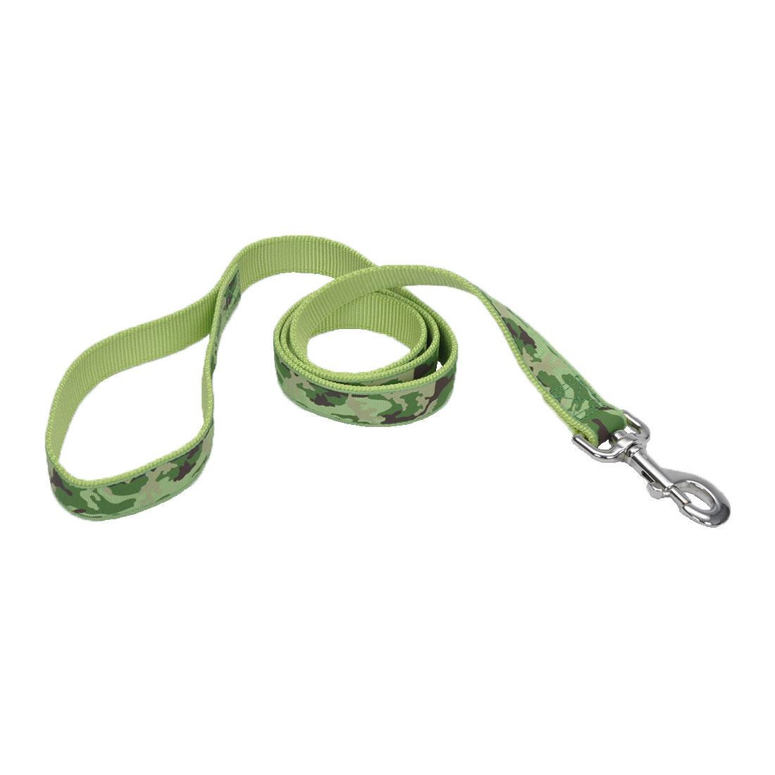 Ribbon Nylon Dog Leash, Lime Camouflage, 1-in x 4-ft