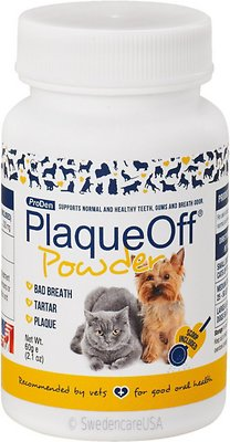 ProDen PlaqueOff Powder Dog & Cat Supplement, 60-g bottle