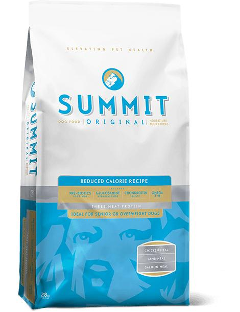 Petcurean SUMMIT Three Meat Reduced Calorie Dry Dog Food, 28-lb
