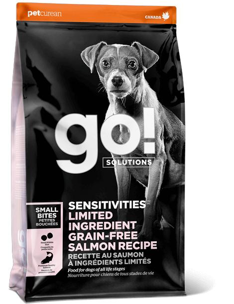 Petcurean Dog Go! Solutions Small Bites Sensitivities Limited Ingredient Salmon Grain-Free Dry Dog Food, 3.5-lb