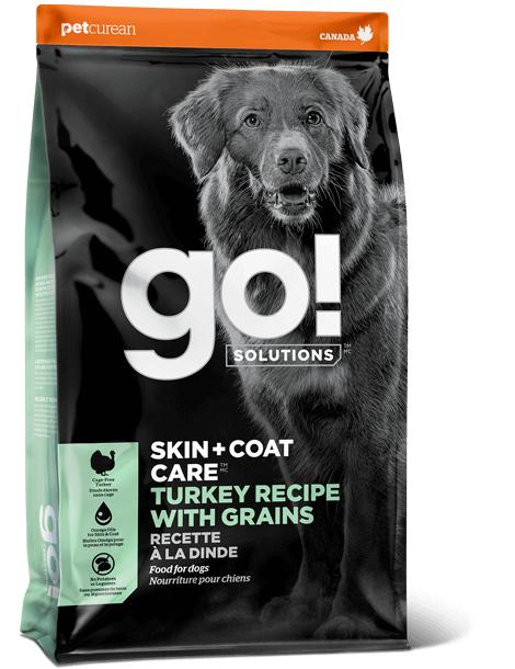 Petcurean Dog Go! Solutions Skin + Coat Care Turkey with Grains Dry Dog Food, 3.5-lb