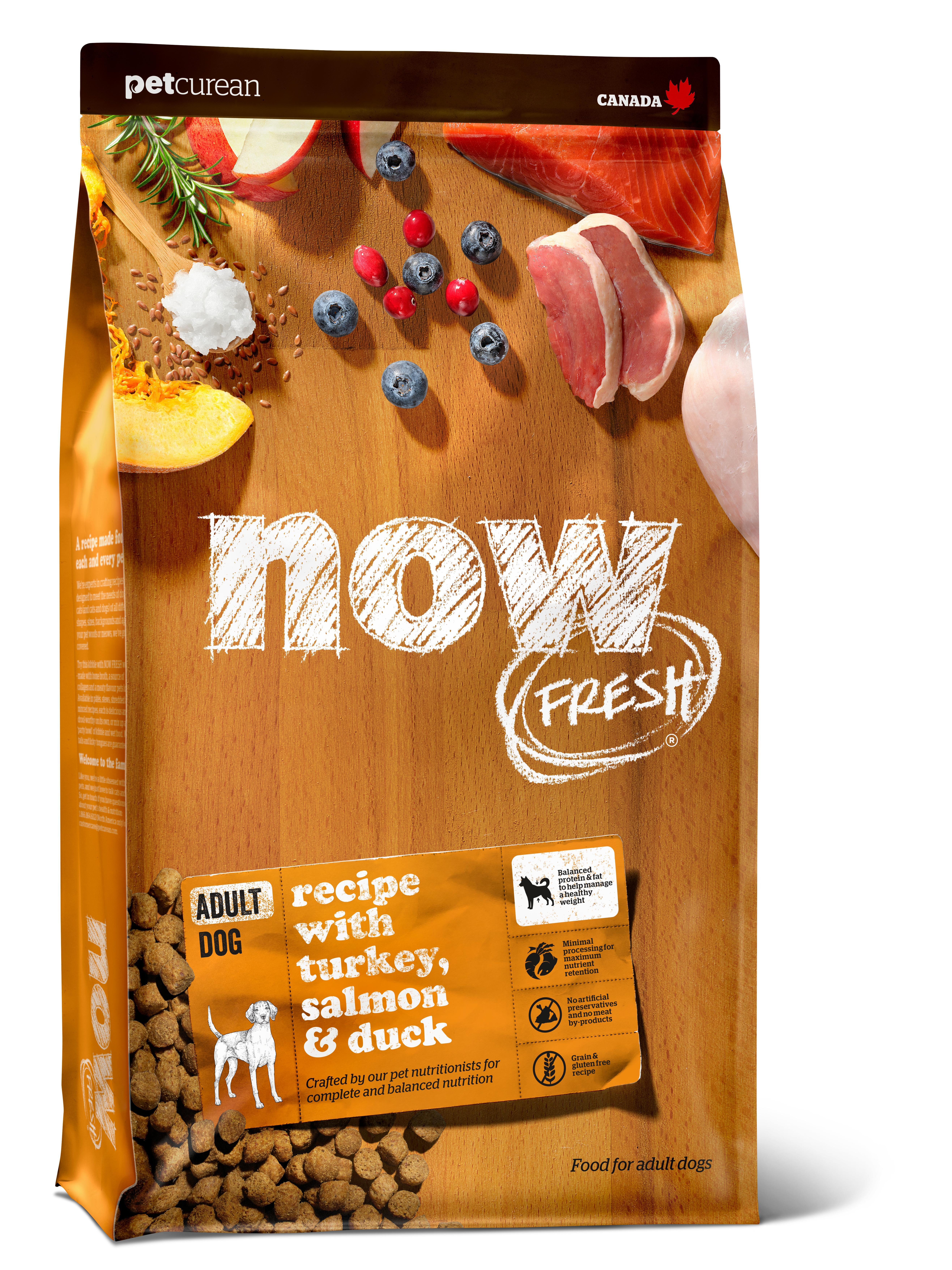 NOW FRESH Turkey, Salmon & Duck Grain-Free Dry Dog Food, 22-lb
