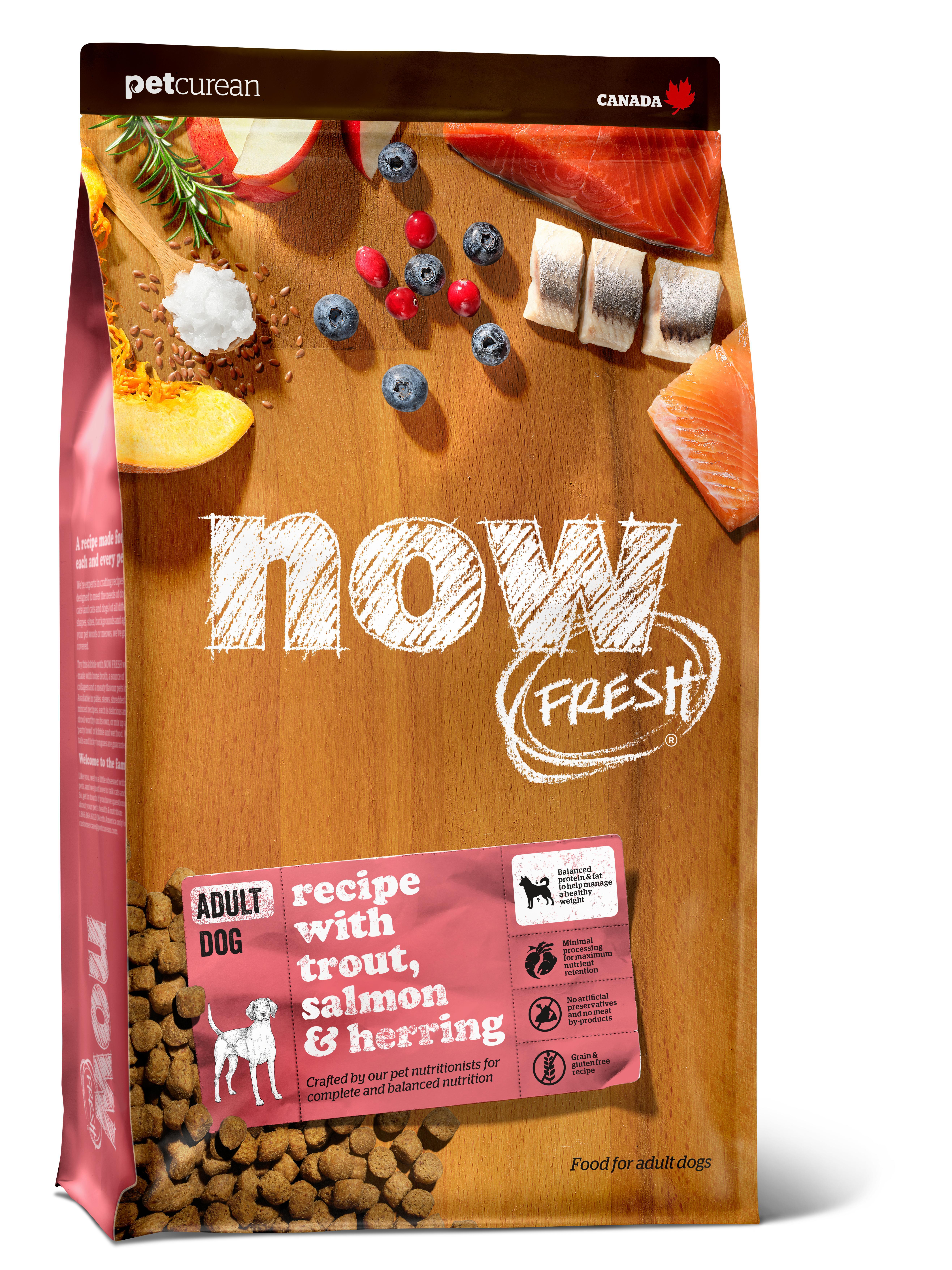 NOW FRESH Trout, Salmon & Herring Grain-Free Dry Dog Food, 22-lb
