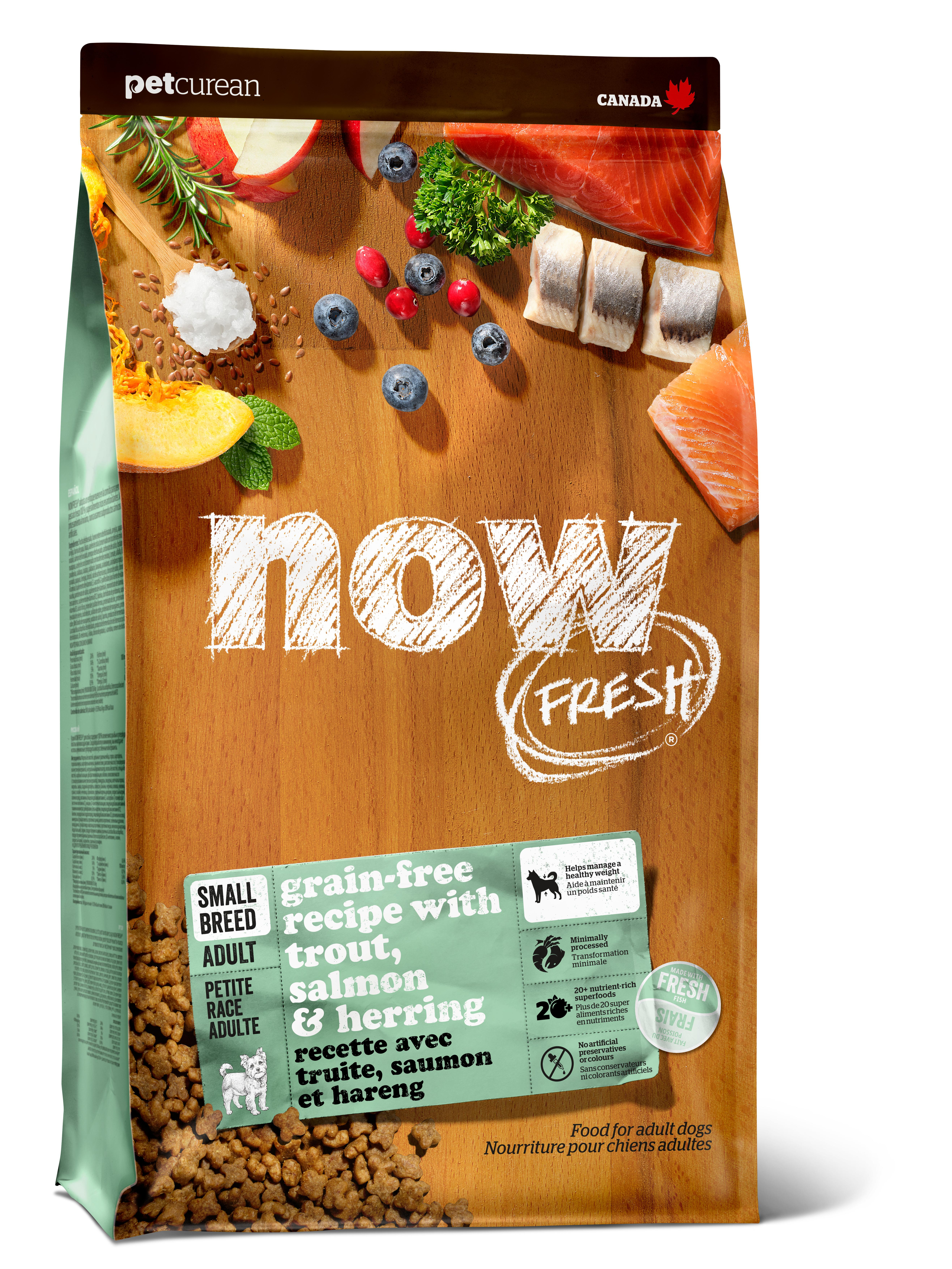 NOW FRESH Trout, Salmon & Herring Small Breed Grain-Free Dry Dog Food, 3.5-lb