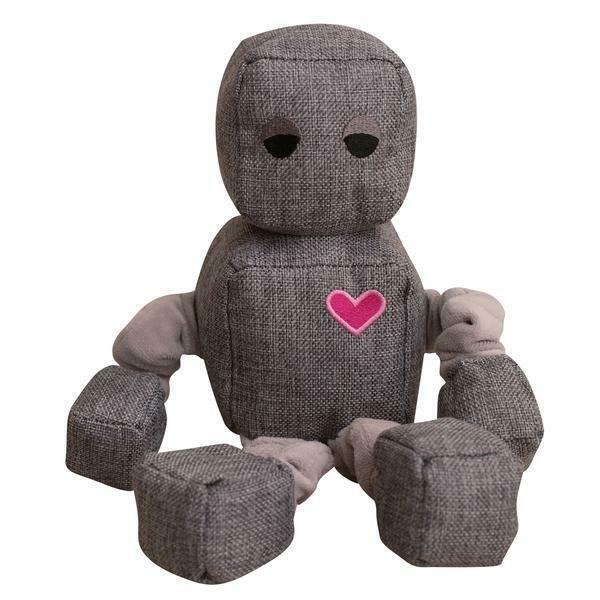 Snugarooz Ryder the Robot Dog Toy, Grey, 13-in