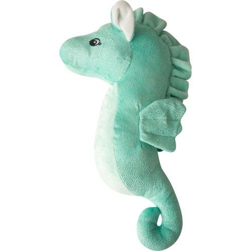 Snugarooz Sandy Seahorse Dog Toy, Teal, 17-in