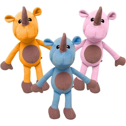 Snugarooz Robbie the Rhino Dog Toy, Assorted Colors