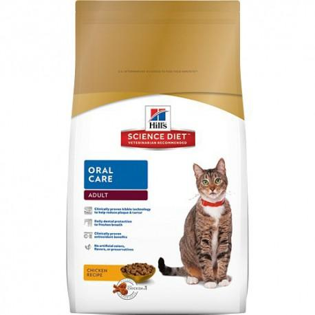 Hill's Science Diet Oral Care Chicken Adult Dry Cat Food, 15.5-lb