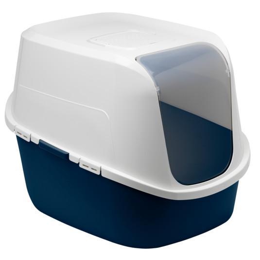 Moderna Amerix Hooded Cat Litter Box, Blueberry