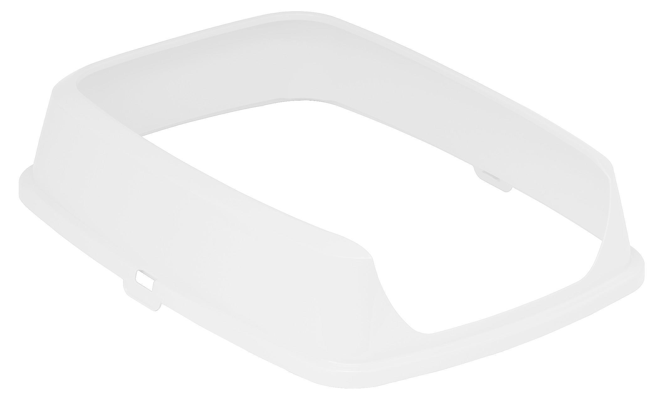 Moderna Maryloo Cat Litter Pan Rim, White, Large