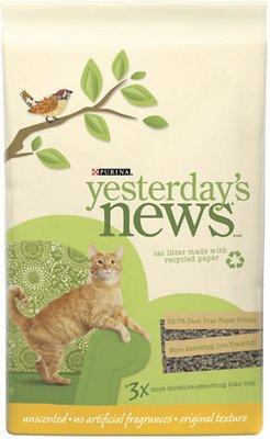 Yesterday's News Original Formula Cat Litter, 30-lb bag