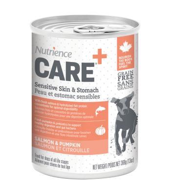 Nutrience Care Sensitive Skin & Stomach Salmon & Pumpkin Wet Dog Food, 369-gram