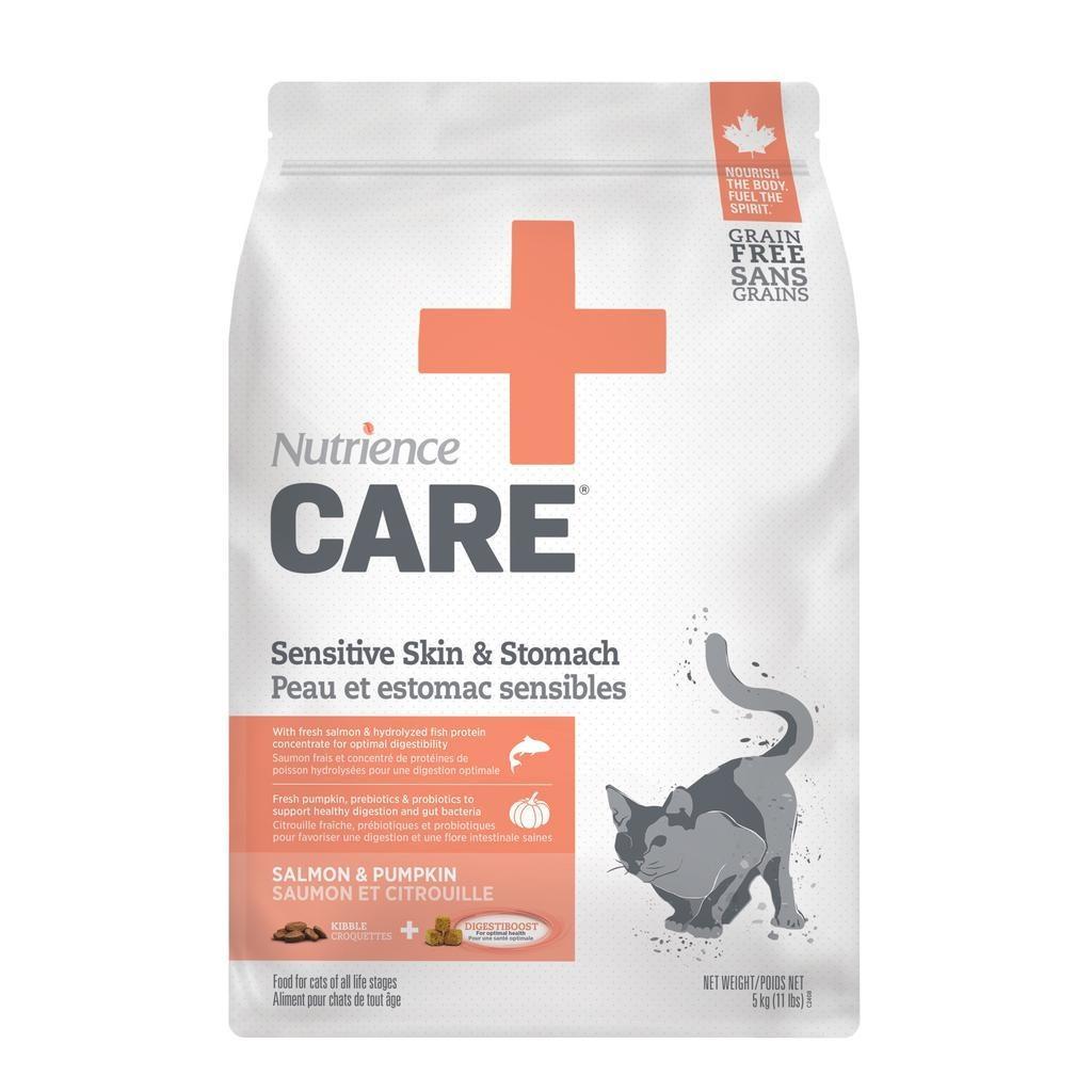 Nutrience Care Sensitive Skin & Stomach Salmon & Pumpkin Dry Cat Food, 2.27-kg