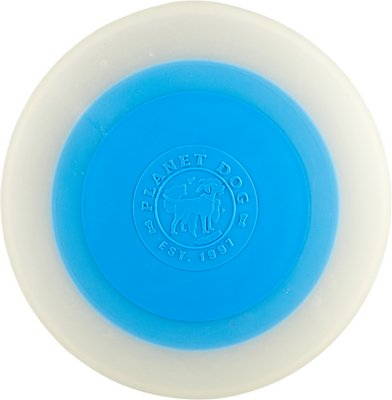 Planet Dog Orbee-Tuff ZOOM Flyer Dog Toy, Glow/Blue, 9.5-in