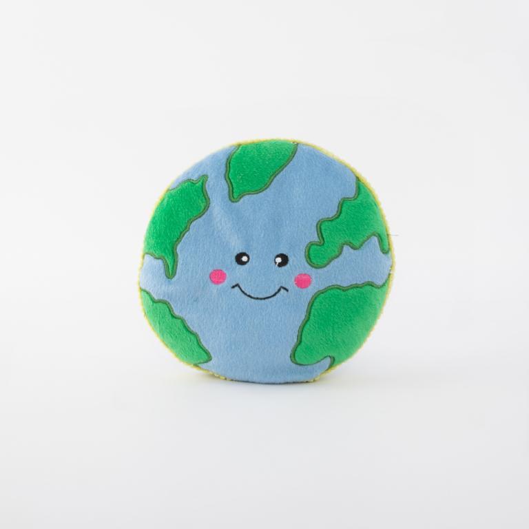 ZippyPaws Squeakie Pattiez Earth Dog Toy
