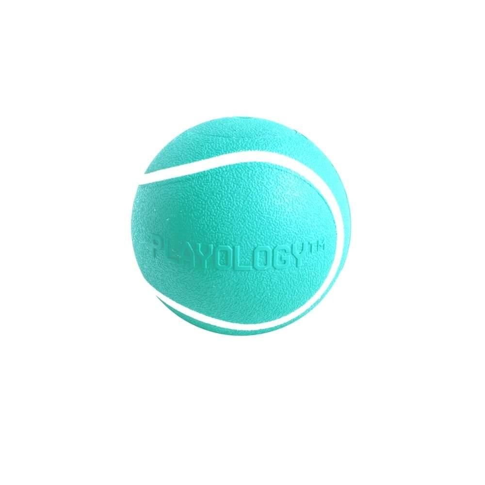 Playology Squeaky Chew Ball Peanut Butter Scented Dog Toy, Small