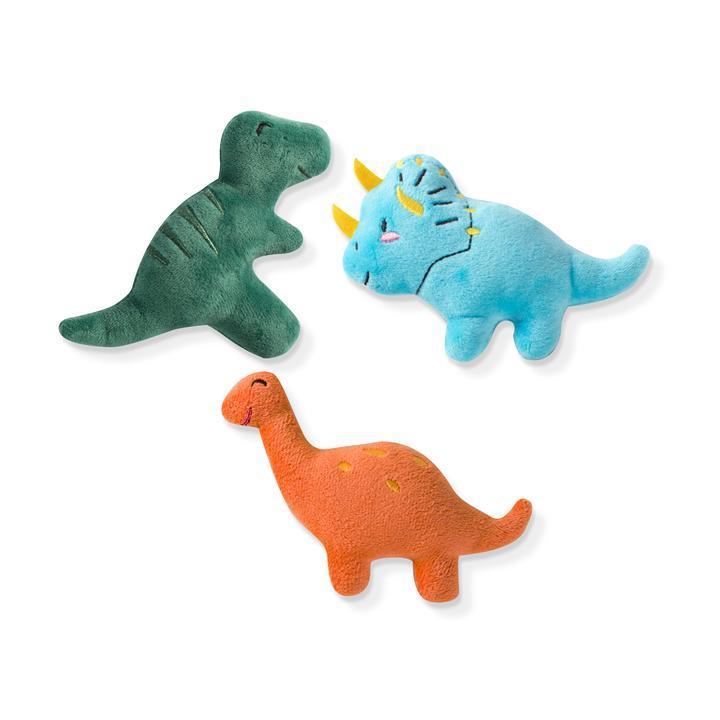 Pet Shop by Fringe Studio Dinos Dog Toy, Mini, 3-pk
