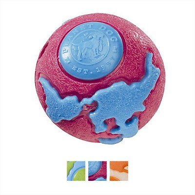 Planet Dog Orbee-Tuff Orbee Ball, Pink/Blue, Large