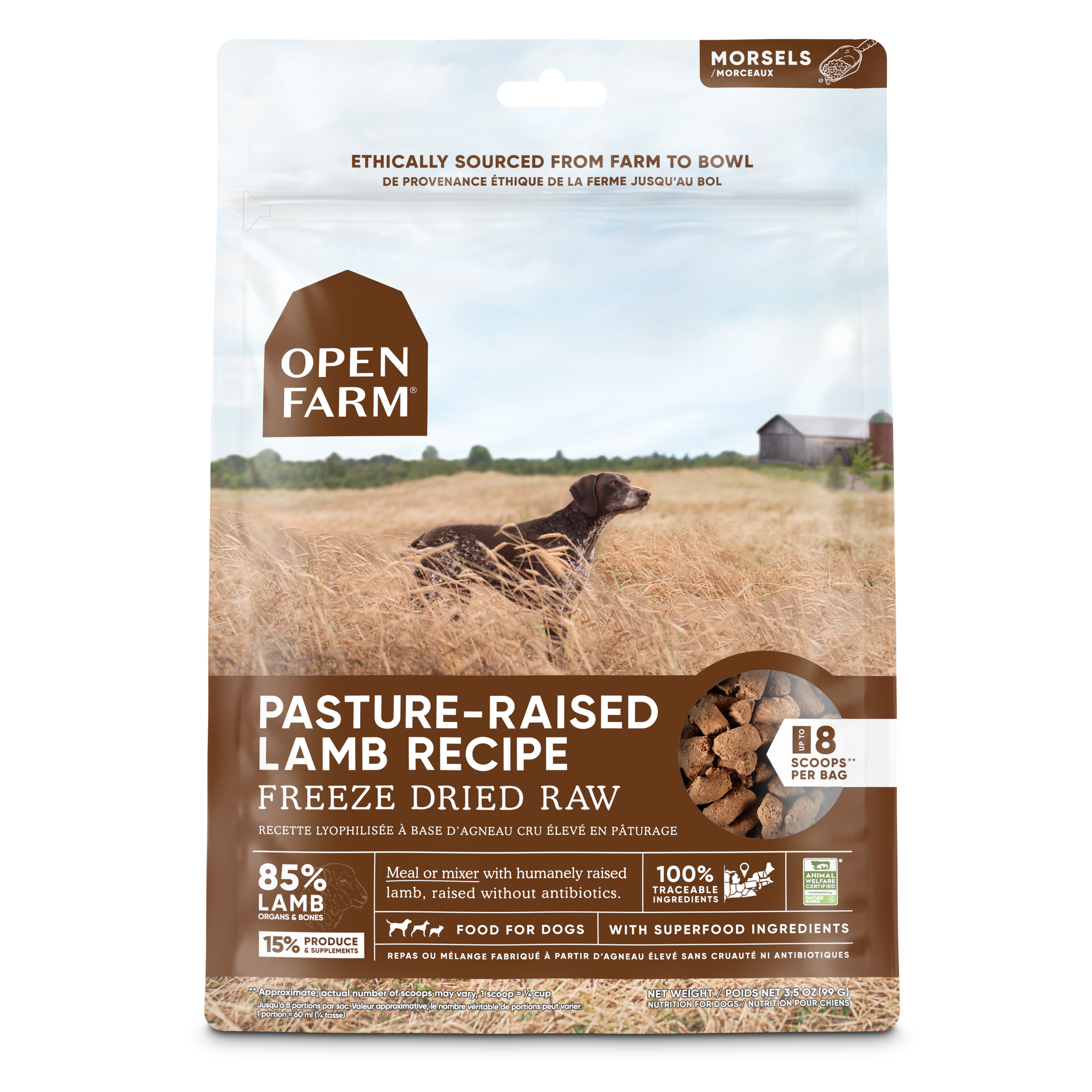 Open Farm Freeze Dried Lamb Morsels Image