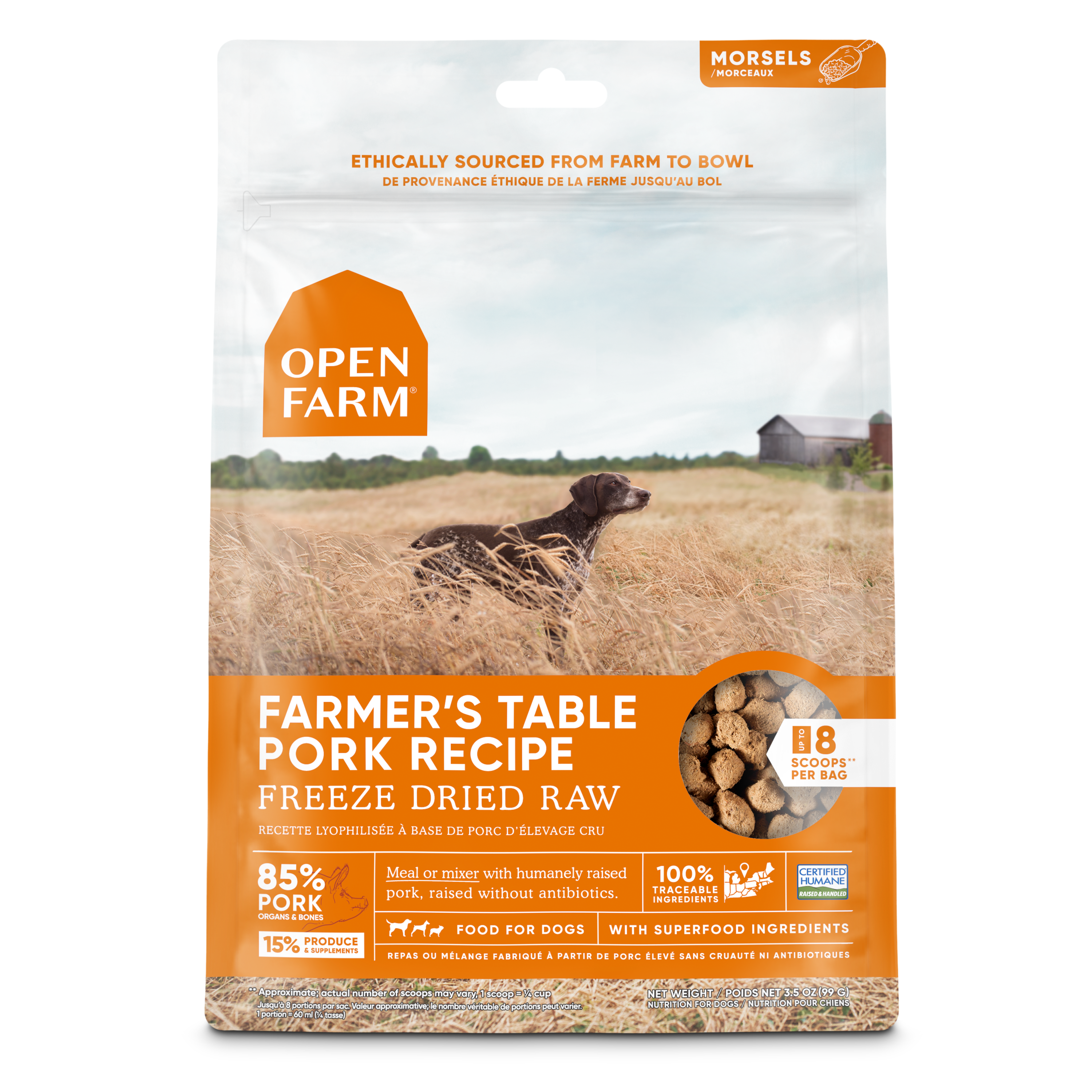 Open Farm Freeze Dried Pork Morsels Image
