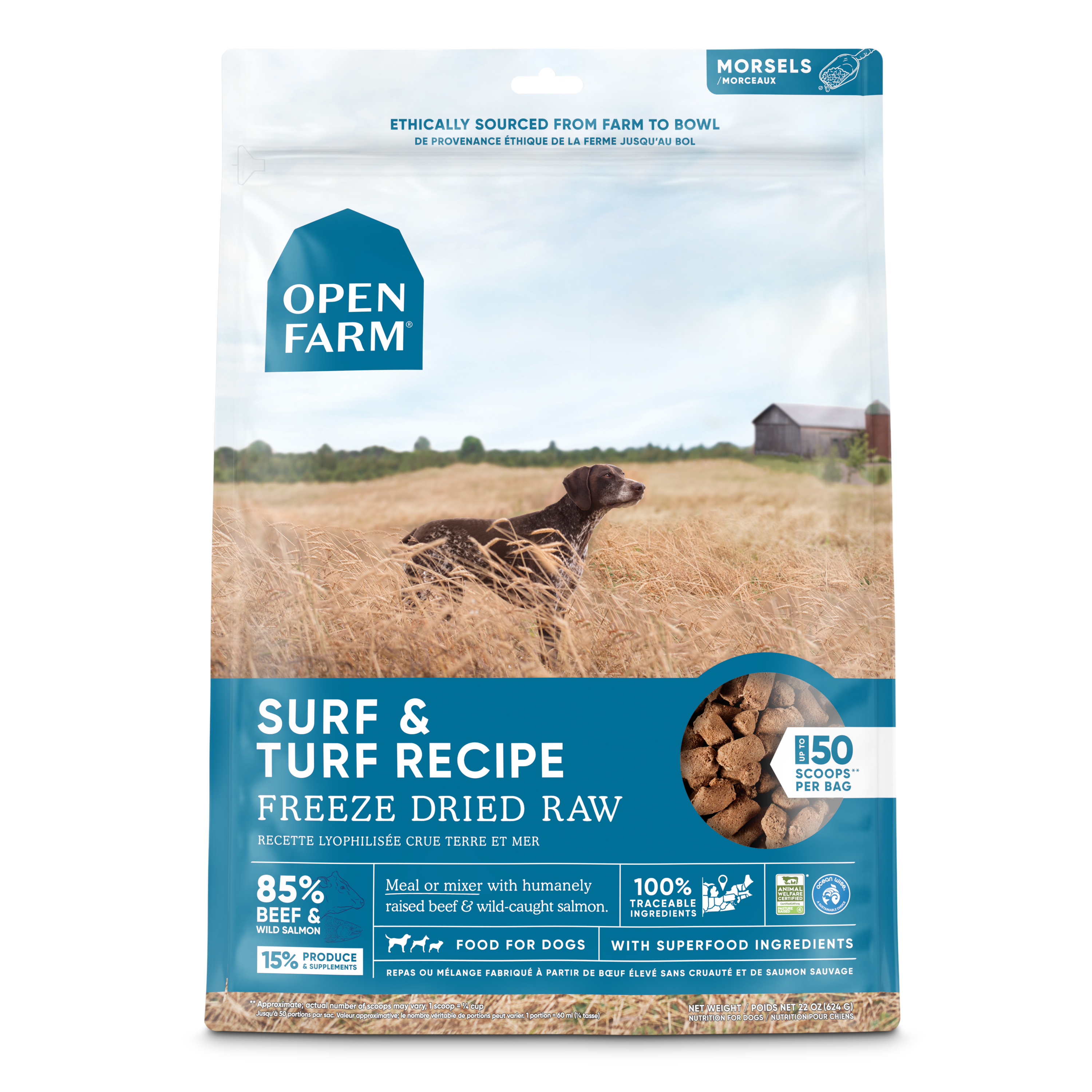 Open Farm Surf & Turf Morsels Freeze-Dried Dog Food Image