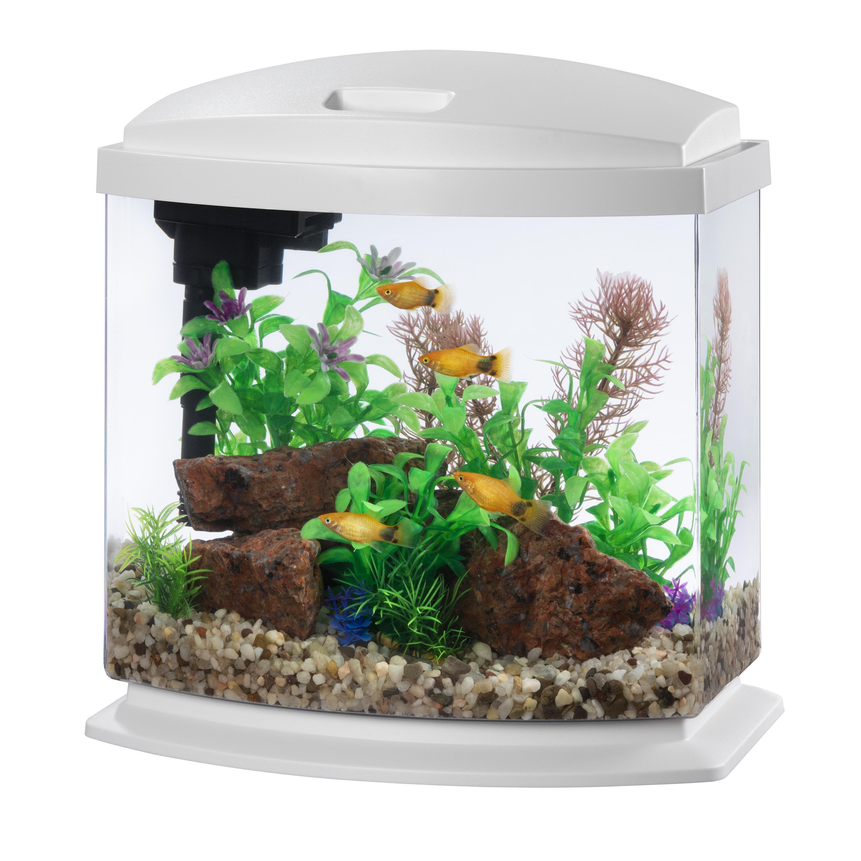 Aqueon MiniBow Kits with SmartClean Aquarium, White Image