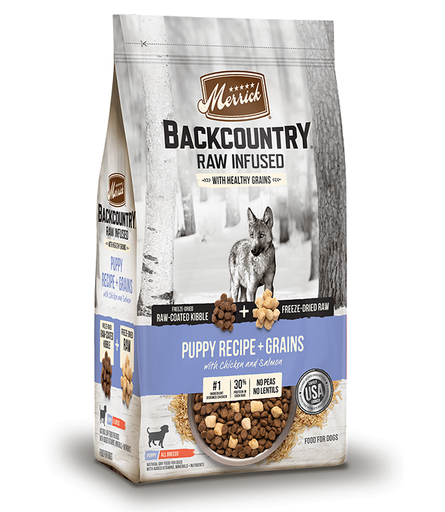 Merrick Backcountry Puppy Raw Infused with Healthy Grains Dry Food, 4-lb