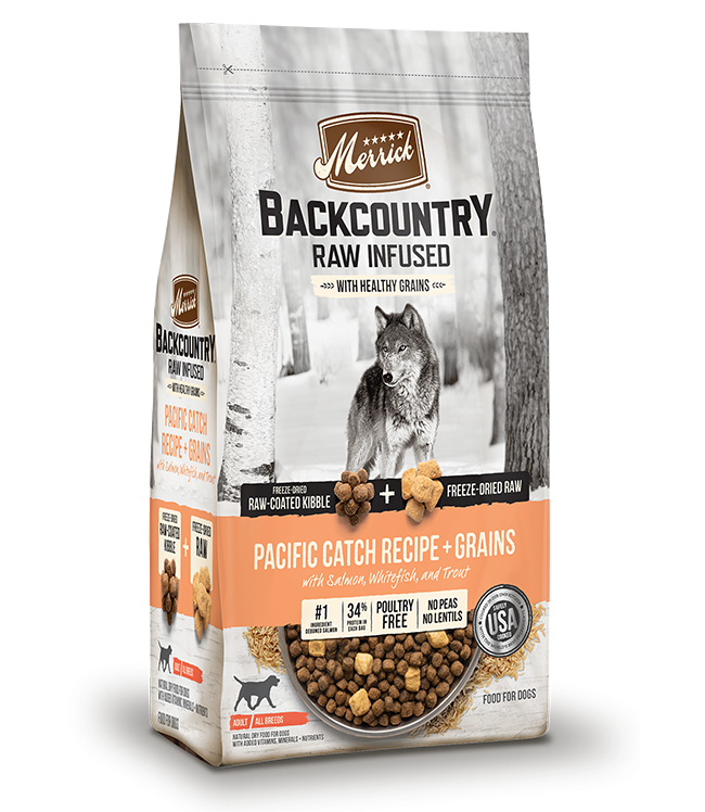 Merrick Backcountry Pacific Catch Raw Infused with Healthy Grains Dry Dog Food Image