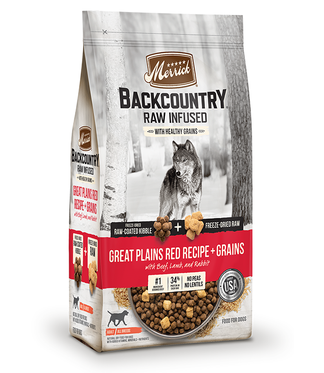 Merrick Backcountry Great Plains Raw Infused with Healthy Grains Dry Dog food Image