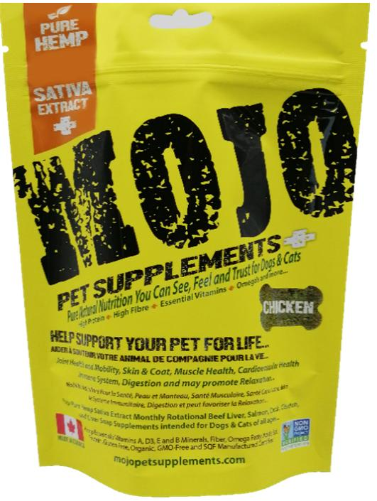 Mojo Pet Supplements H Sativa Extract Nutraceutical Chicken Dog Supplement, 6.77-oz