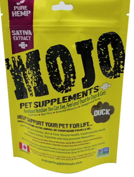 Mojo Pet Supplements H Sativa Extract Nutraceutical Duck Dog Supplement, 4.09-oz