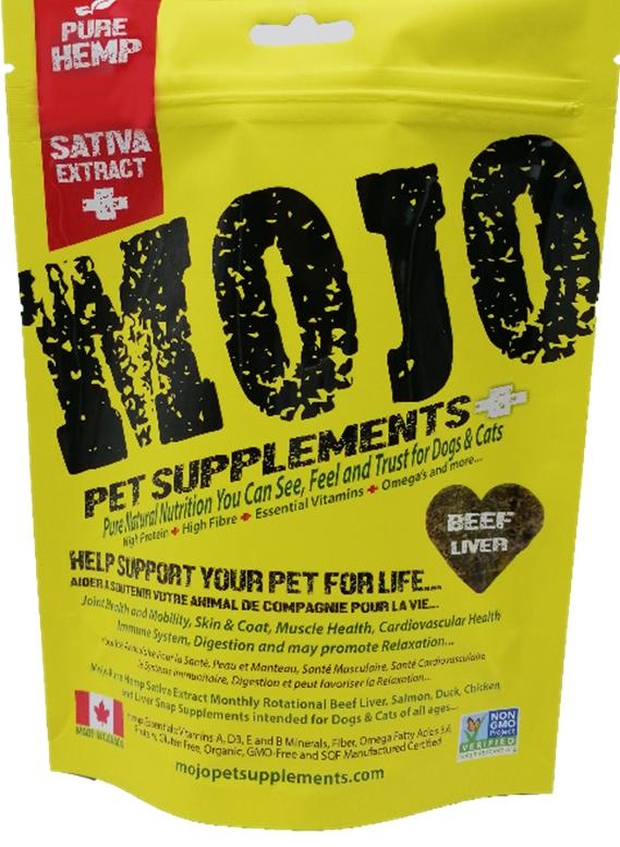 Mojo Pet Supplements H Sativa Extract Nutraceutical Beef Liver Dog Supplement, 6.56-oz