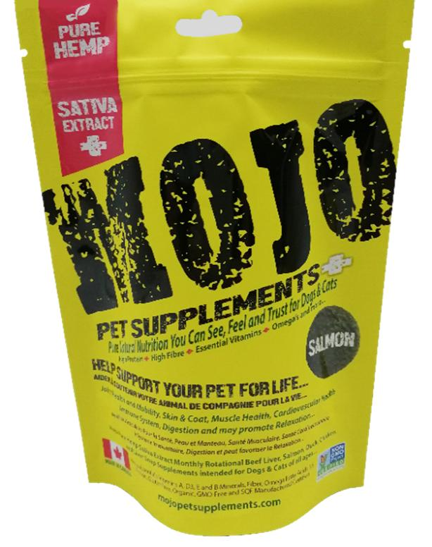 Mojo Pet Supplements H Sativa Extract Nutraceutical Salmon Dog Supplement, 4.87-oz