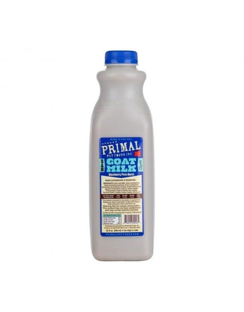 Primal Blueberry Pom Burst Raw Frozen Goat Milk for Dogs & Cats, 32-oz