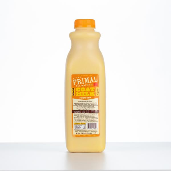 Primal Pumpkin Spice Raw Frozen Goat Milk for Dogs & Cats, 32-oz