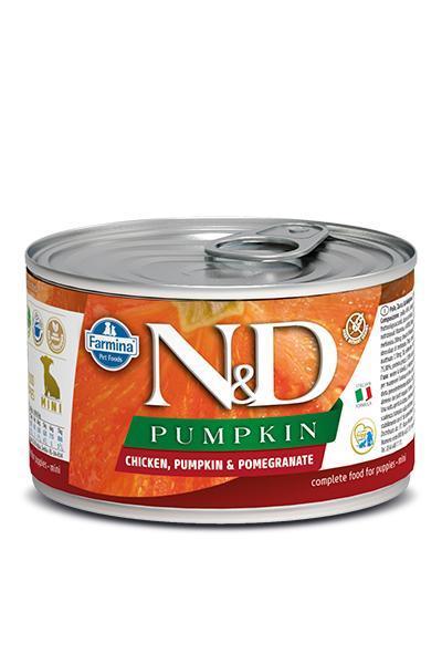 Farmina N&D Pumpkin Chicken & Pomegranate Puppy Mini Wet Dog Food Image