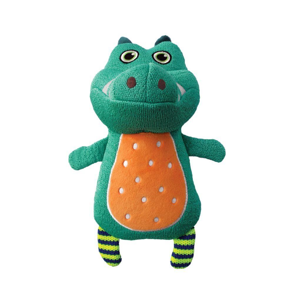 KONG Whoopz Gator Dog Toy, Small